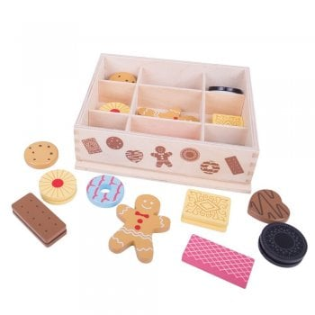 Bigjigs Wooden Box Of Biscuits for Tea Parties