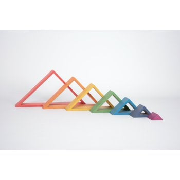 Rainbow Architect Stacking Triangles - Pk7 - Great for Montessori and Nurture Rooms