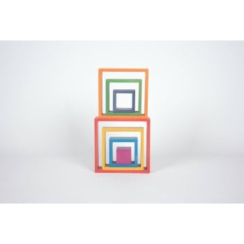 Rainbow Architect Stacking Squares - Pk7 - - Great for Montessori and Nurture Rooms