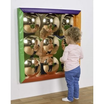 Soft Frame 9 Dome Bubble Mirror (840mm) Gold**