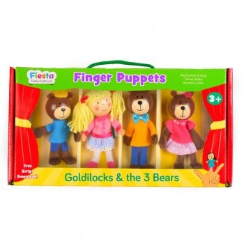 Fiesta Crafts Tellatale Wooden Head Finger Puppet Set Goldilocks (4)