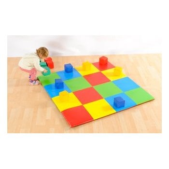 Patchwork Colour Squares Mat (1.42M Sq)**
