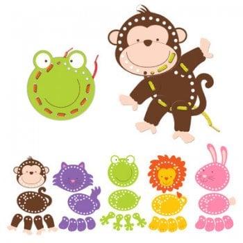 Fiesta Crafts Animals Threading Toys