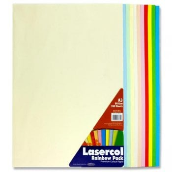 A3 Colour Paper 100 Sheets - Rainbow