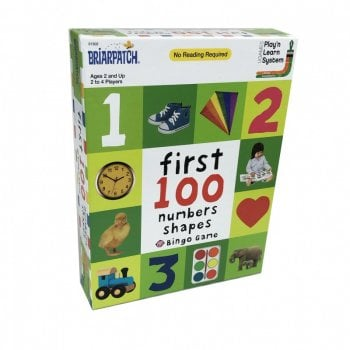 First 100 Numbers, Colours and Shapes Bingo Game