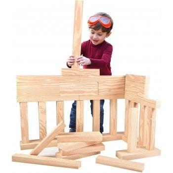Life Like Foam Wood-like Play Building Beams (Pk 24)