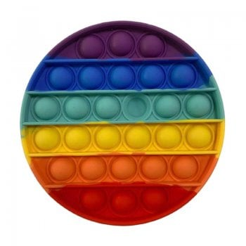 Rainbow Push Pop Bubble Sensory Fidget Toy