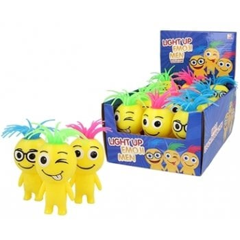 Light up Emoji People - Bounce and Squish Stress Toy