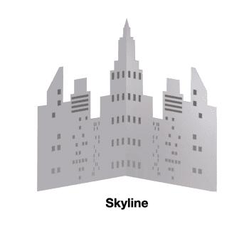 Skyline Corner Ply Backed Mirror 1415mm x 1120mm - Set of 2