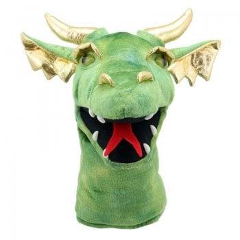 Large Dragon Heads - Dragon (Green) Puppet