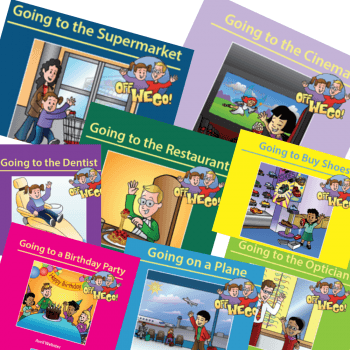 Set of 8 Off We Go Learning Books
