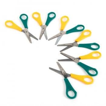 Left Handed 13cm Ruler Scissors 6pk