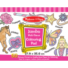 Jumbo Colouring Pad - Pink*
