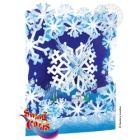Swing Card Christmas Snowflake - 3D, interative gift card