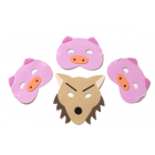 Three Little Pigs Mask Set- Perfect for storytelling and roleplay