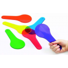 Colour Paddles (Set Of 6) - Transparent tactile paddles