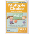 Multiple Choice Practice Tests in Maths Pack 3
