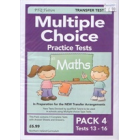 Multiple Choice Practice Tests in Maths Pack 4