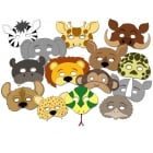 Wild Animals Masks (14pcs)