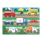 Wooden Peg Puzzle - Vehicles