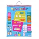Fabric Wall Calendar with Soft Words and Numbers - Fun Daily Activities