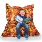 Autumn Leaves Childrens Bean Bag Floor Cushion