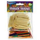 Crafty Bitz Bag 250 Assorted Matchsticks