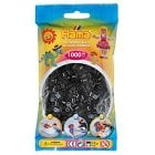 Midi Hama Beads - 1000 Beads in Bag, Black Aid for fine motor