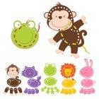 Animals Threading Toys