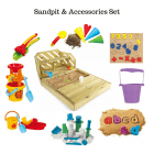 Outdoor Giant Sand Pit with Accessories Bundle**