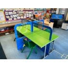 Primary School Desk Partitions 4ft - Includes 8 Fun Posters