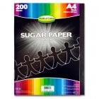 A4 Sugar Paper 200 Sheets - Black