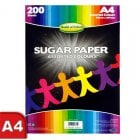 A4 Sugar Paper 200 Sheets - Coloured