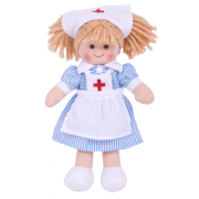 Nancy Nurse Rag Doll - Soft and Cuddly Toy
