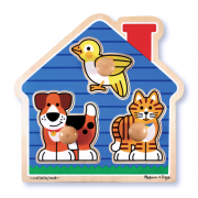 House Pets Large Peg Puzzle