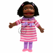 Medium Girl (Dark Skin Tone) Puppet*