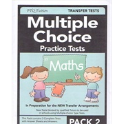 Multiple Choice Practice Tests in Maths Pack 2