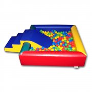 Square Ball Pool with Steps and Slide*
