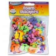 Crafty Bitz Foam Stickers Alphabet Puzzle Shapes