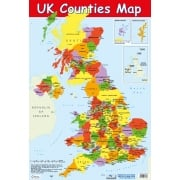 Map of UK Counties Poster