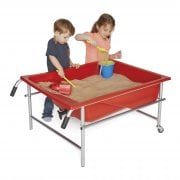 Red Oasis Sand & Water Tray and Steel Stand Set* - Sensory outdoor/indoor play