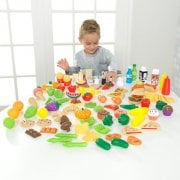 Deluxe Tasty Treats Play Set - 115 Toy Food Pieces