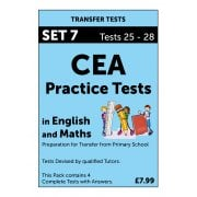 CEA Practice Tests in English and Maths Pack 7
