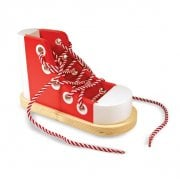 Wooden Lacing Shoe
