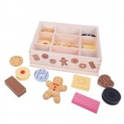 Wooden Box Of Biscuits for Tea Parties