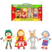 Tellatale Wooden Head Finger Puppet Set Red Riding Hood (4)