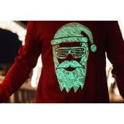Interactive Glow In The Dark Cool Santa Christmas Jumper