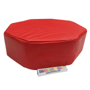 Vibrating Red Octagon Pillow Cushion
