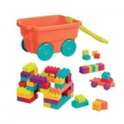 Battat LOCBLOC Wagon - Includes 54 Chunky Building Blocks
