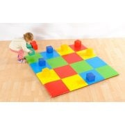 Patchwork Colour Squares Mat (1.42M Sq)*